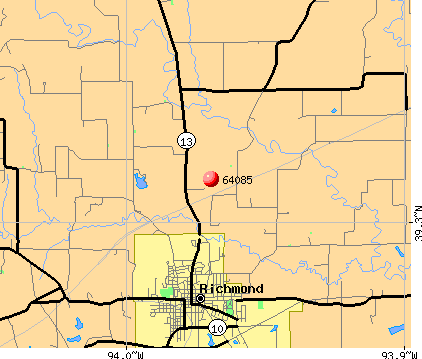 Richmond, MO (64085) map