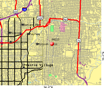 Kansas City, MO (64113) map