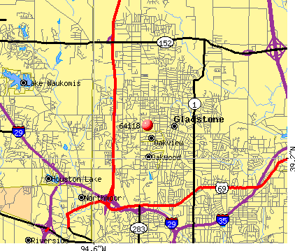 Kansas City, MO (64118) map
