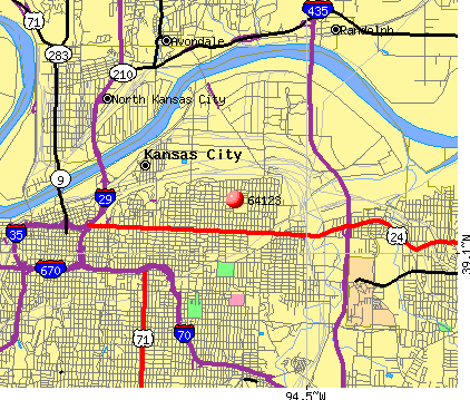 Kansas City, MO (64123) map