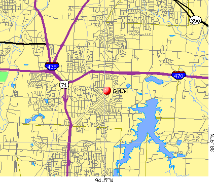 Kansas City, MO (64134) map