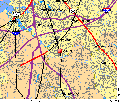 Glendora, NJ (08029) map