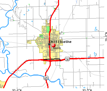 Chillicothe, MO (64601) map