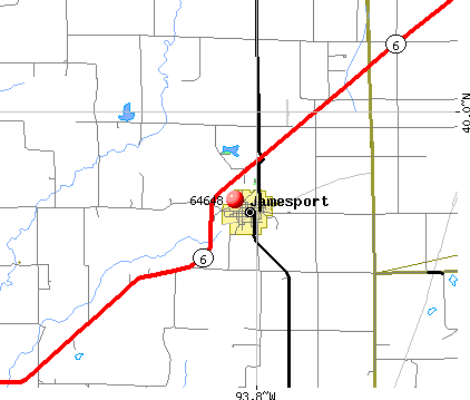 Jamesport, MO (64648) map