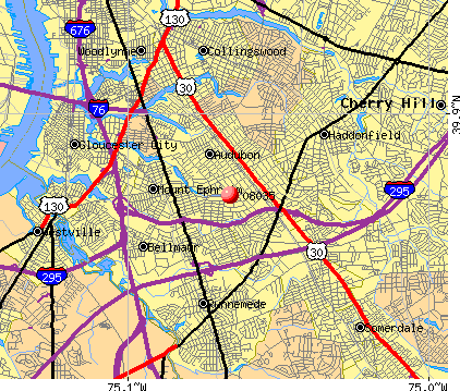 Haddon Heights, NJ (08035) map