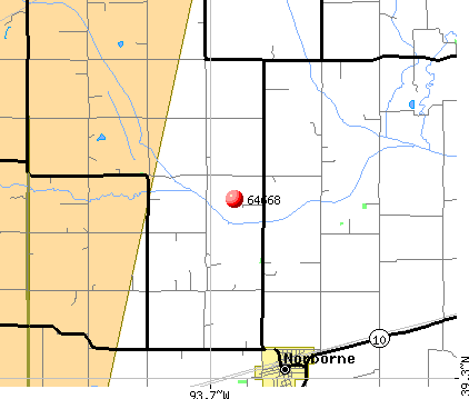 Norborne, MO (64668) map