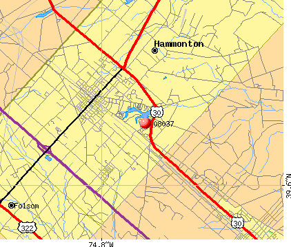 Hammonton, NJ (08037) map