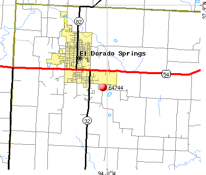 El Dorado Springs, MO (64744) map