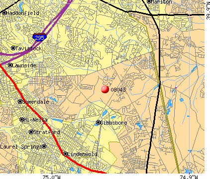 Echelon, NJ (08043) map