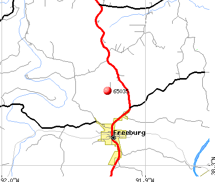Freeburg, MO (65035) map