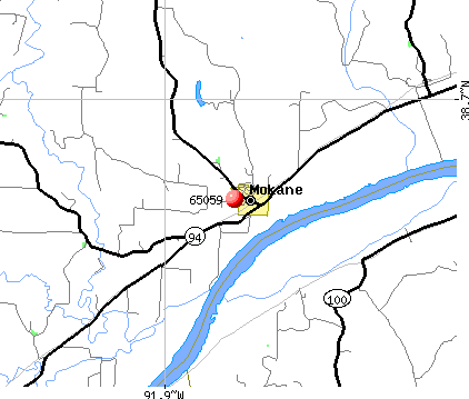 Mokane, MO (65059) map