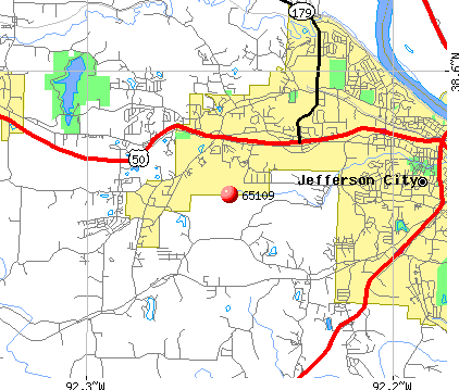 Jefferson City, MO (65109) map