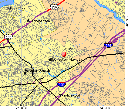 Moorestown-Lenola, NJ (08057) map