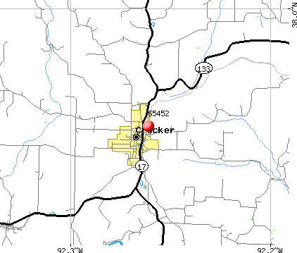 Crocker, MO (65452) map