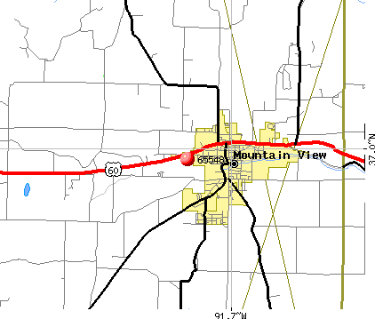 Mountain View, MO (65548) map