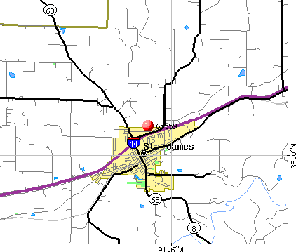 St. James, MO (65559) map