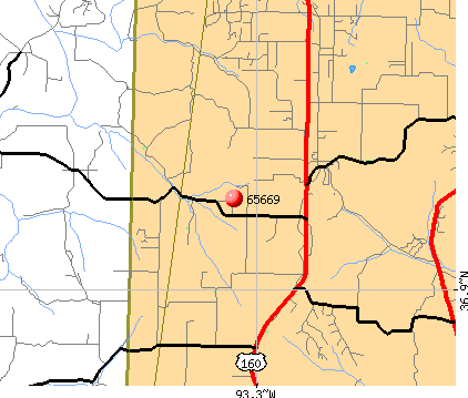 Highlandville, MO (65669) map