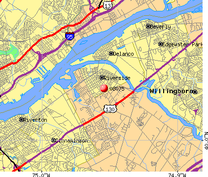 , NJ (08075) map