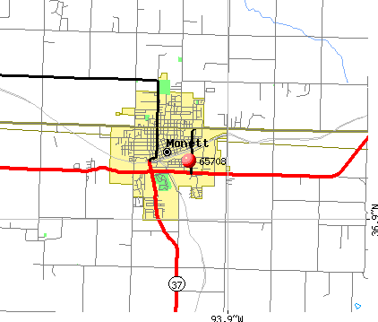 Monett, MO (65708) map