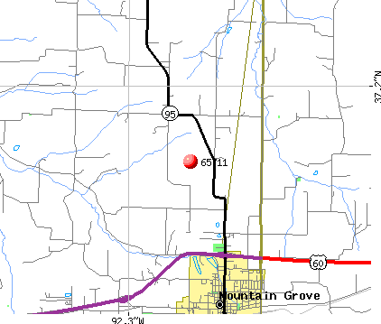 Mountain Grove, MO (65711) map