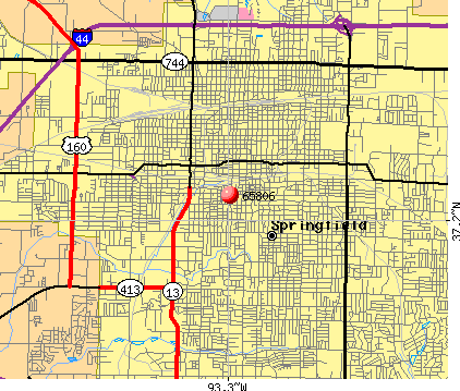 Springfield, MO (65806) map