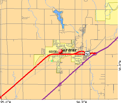 Gardner, KS (66030) map