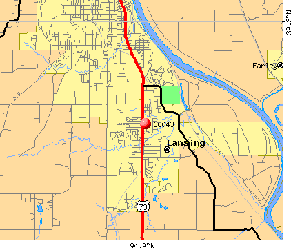 Lansing, KS (66043) map