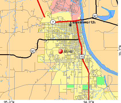 Leavenworth, KS (66048) map