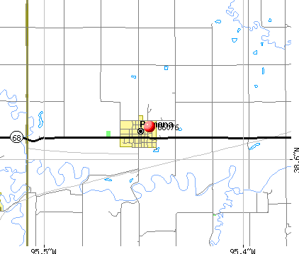 Pomona, KS (66076) map