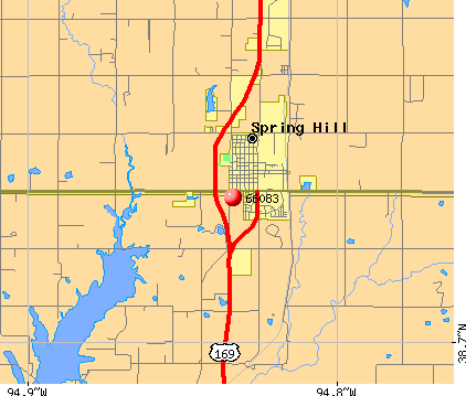 Spring Hill, KS (66083) map