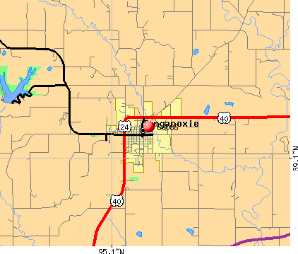 Tonganoxie, KS (66086) map