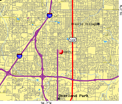 Overland Park, KS (66212) map