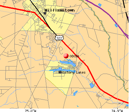 Williamstown, NJ (08094) map