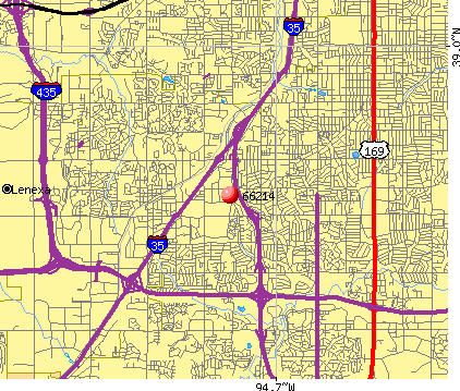 Overland Park, KS (66214) map