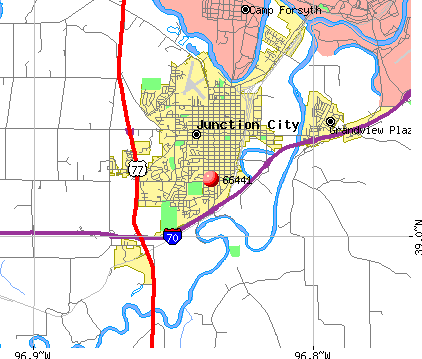 Junction City, KS (66441) map