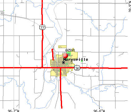 Marysville, KS (66508) map
