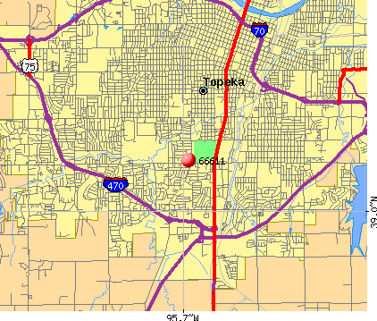 Topeka, KS (66611) map
