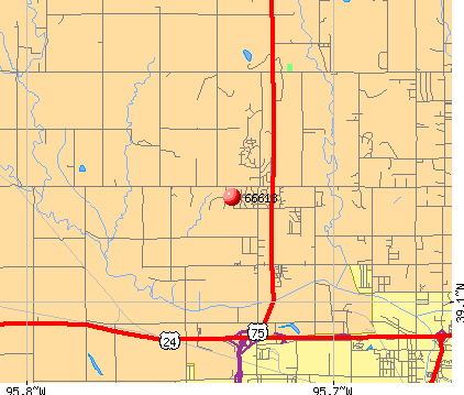 Topeka, KS (66618) map