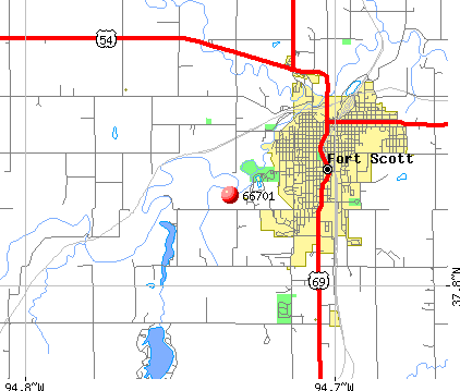 Fort Scott, KS (66701) map