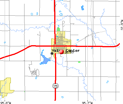 Yates Center, KS (66783) map