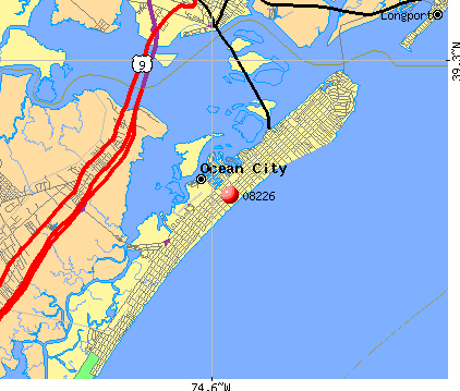 Ocean City, NJ (08226) map