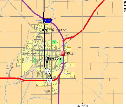 Newton, KS (67114) map