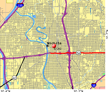 Wichita, KS (67202) map