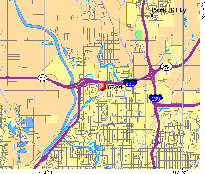 Wichita, KS (67204) map