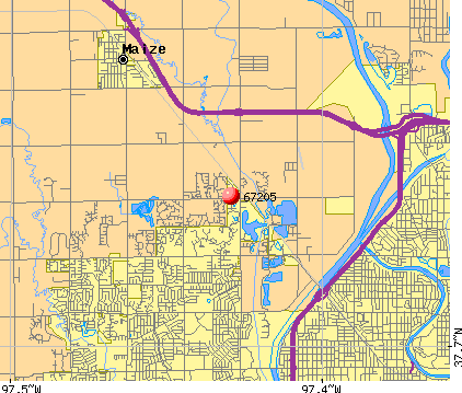 Wichita, KS (67205) map