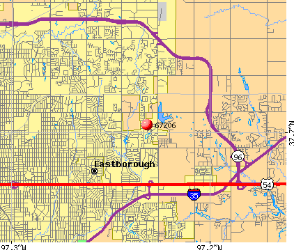 Wichita, KS (67206) map