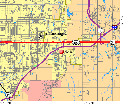 Wichita, KS (67207) map