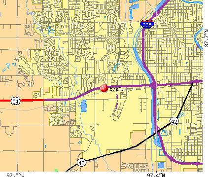 Wichita, KS (67209) map