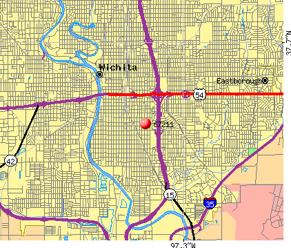 Wichita, KS (67211) map