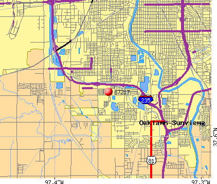 Wichita, KS (67217) map